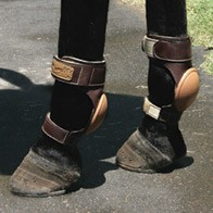 Leather skid boots